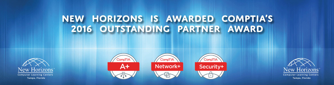 CompTIA's 2016 Outstanding Partner Award Winner New Horizons Tampa Bay